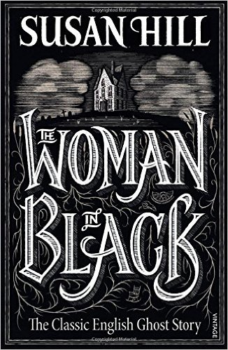 Woman in black book