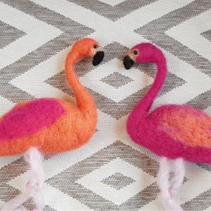 Needle Felt Flamingoes - Handmade Festival